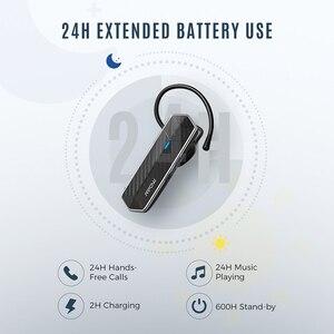 Image 4 - Mpow EM18 Bluetooth 5.0 Auricolare Senza Fili Singolo Cuffie CVC8.0 Cancellazione del Rumore Mic Auricolari Con 24H Tempo di Conversazione Per Il Driver