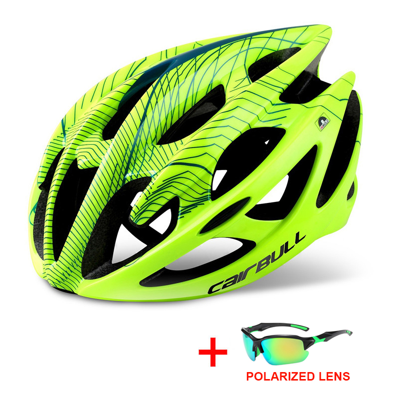 Professional Road Mountain Bike Helmet with Glasses Ultralight DH MTB All-terrain Bicycle Helmet Sports Riding Cycling Helmet