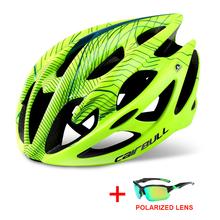 Profesjonalny górski rower szosowy kask w okularach Ultralight DH MTB terenowy kask rowerowy sport jazda na rowerze kask tanie tanio CAIRBULL (Dorośli) mężczyzn CN (pochodzenie) M 195g L 225g 20 Formowane integralnie kask Cairbull-01 Unisex