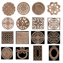 Ornamental Wood-Mouldings Furniture-Corner Cabinet Applique Carved Long-Rose Onlay NEW