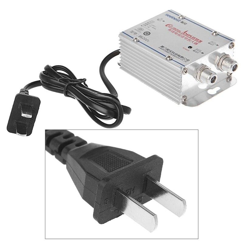 2 Way CATV VCR TV Antenna Signal Amplifier 220V 45-860MHz Booster Splitter Q84A