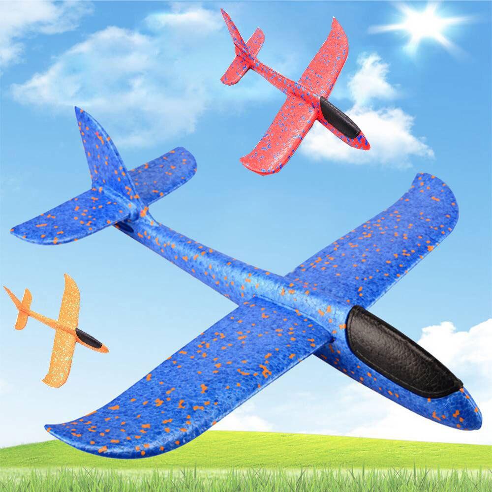 Toys For Children 48CM EPP Foam Hand Throw Airplane Kids Model Aircraft Diy Flying Glider Planes Outdoor Toys Children's Gift