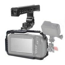 BGNing BMPCC-قفص كاميرا 4 K/6 K/4 K/6 K مع مقبض علوي ، قفص ، فيلم ، فيديو ، فيلم ، سينما ، بلاك ماجيك ، جيب ، BMPCC
