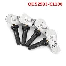 4 шт., датчик давления в автомобильных шинах, система контроля давления в шинах, датчик 52933C1100 для Hyundai Sonata Tucson 52933-C1100