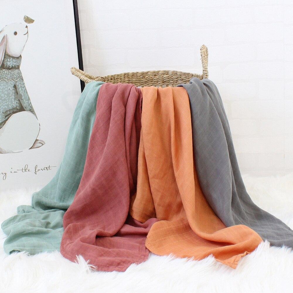 60*60cm Musselin Bambus Baumwolle Baby Decke Cartoon Süßigkeiten Farben Baby Neugeborenen Decken Neugeborenen Swaddle Wrap Spucktücher handtuch