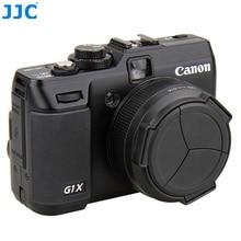 JJC Camera Auto Lens Cap for CANON POWERSHOT G1X Black Automatic Lens Protector Self Retaining