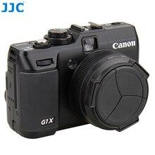 JJC Camera Auto Lens Cap voor CANON POWERSHOT G1X Zwart Automatische Lens Protector Zelf Behoud