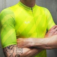 Летняя мужская крутая одежда для езды на велосипеде, воздушная сетчатая рубашка с коротким рукавом для езды на велосипеде, зеленая гоночная одежда для горного велосипеда Coolmax