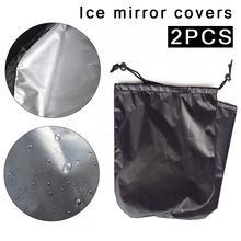 2 шт. автомобильное боковое зеркало Защитная крышка Мороз козырек для зеркала крышка для зеркала заднего вида защита от мороза снег лед зима водонепроницаемый чехол