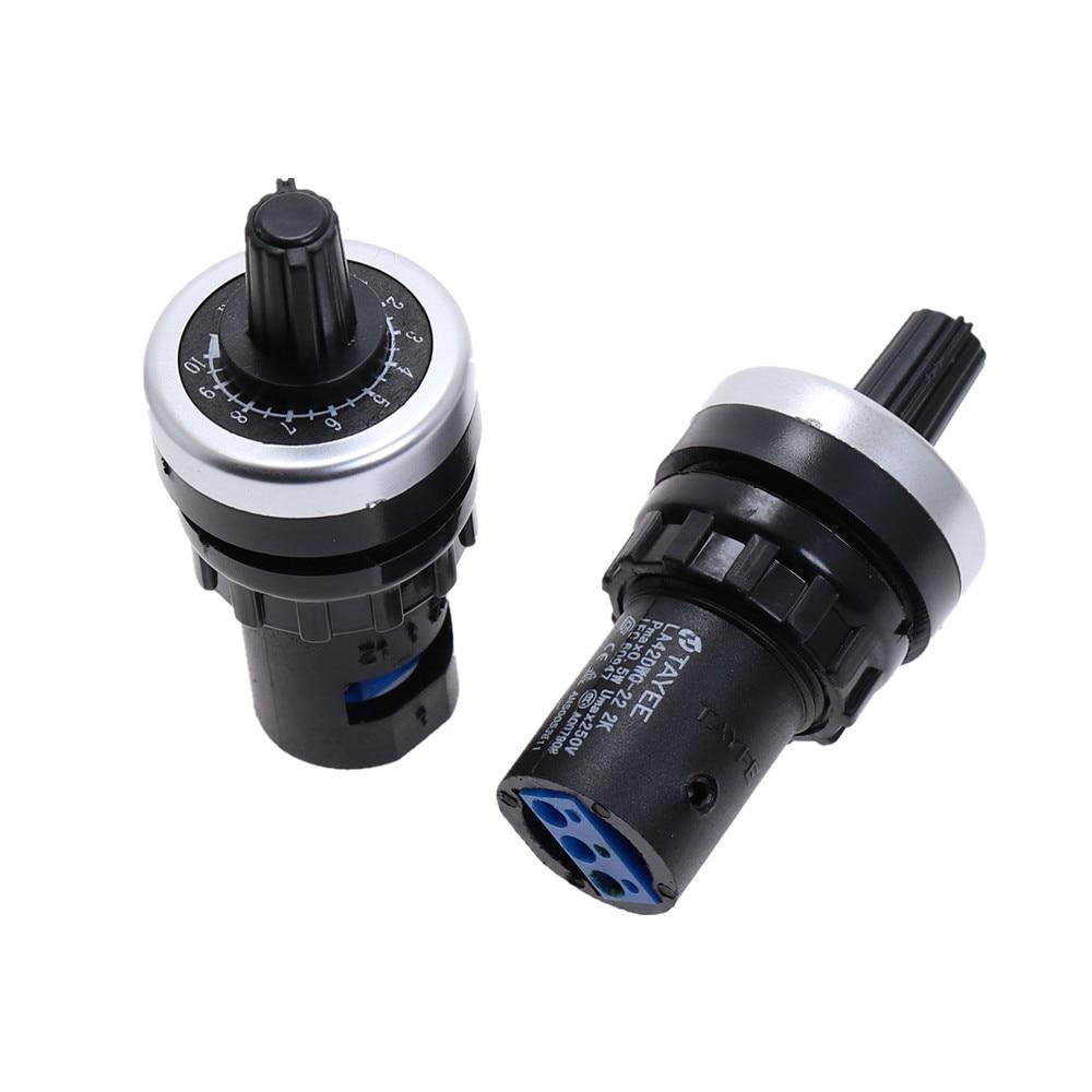 Поворотный переключатель, 1 шт., LA42DWQ-22, 22 мм, 1 K, 2 K, 5 K, 10 K, 20 K, 50 K, 100 K, 200 K, Ом, с регулируемой скоростью привода, vsd pot