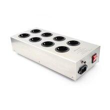 Monosaudio eu800 alta fidelidade usina de filtro energia tomada da ue 8 maneiras, ac condicionador de energia audiophile purificador