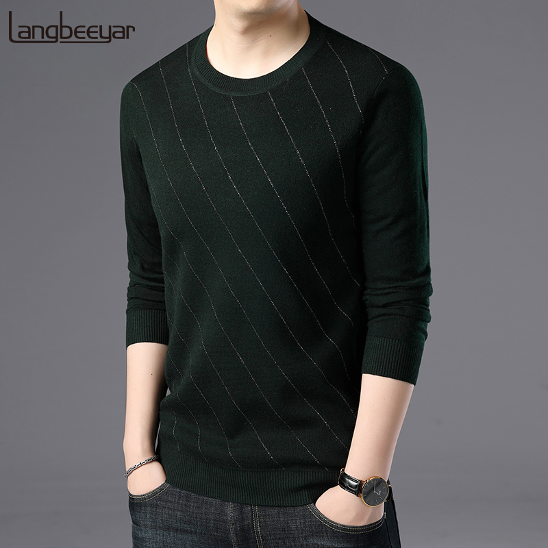 2019 New Fashion Brand Sweater For Mens Pullover O-Neck Slim Fit Jumpers Knitwear Winter Knitting Patterns Casual Mens Clothes