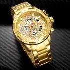 Люксовый бренд NAVIFORCE мужские спортивные часы золотые кварцевые часы из полной стали Мужские часы с датой недели водонепроницаемые военные часы - 3