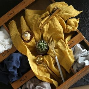 Image 2 - Paño de algodón y lino con textura plisada, 45x65cm, para comida horneada, mesa, sesión de fotos, accesorios de fondo para fotografía