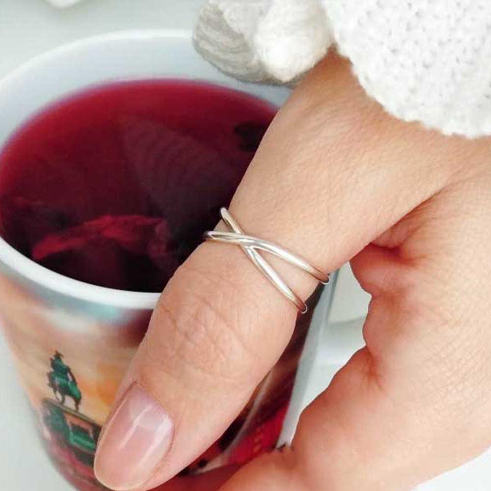 E-מנקו נירוסטה טבעות לנשים אופנה הצהרת עיצוב רוז זהב צבע טבעת טרנדי גל טבעת תכשיטים