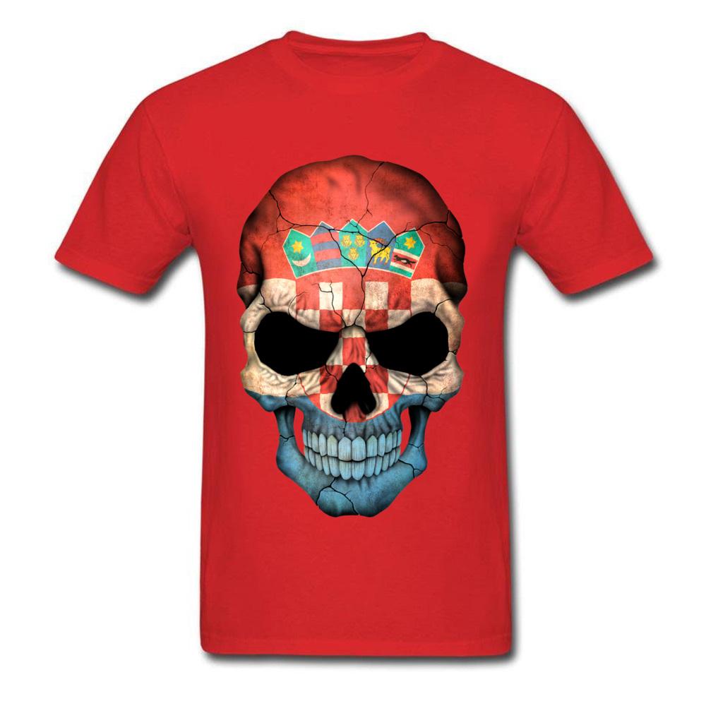 Croatian Flag Skull_red