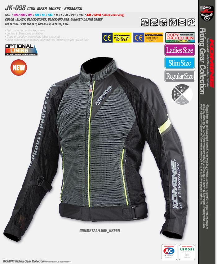 Wholesale Knight Jackets For KOMINE JK-098 Jacket Mesh Motorcycle Racing Spring And Summer Windproof Breathable Riding Jackets