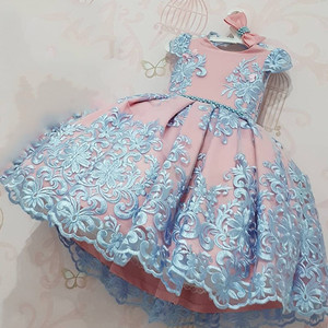 Baby Girl Dresses Lace Embroidery Christmas Dress Wedding Gown Children Clothing Kids Dresses For Girls Children Ceremony Party(China)