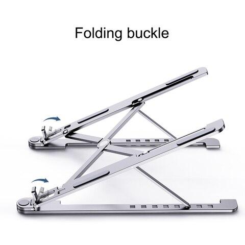 suporte de aluminio de prata da tabuleta do suporte do portatil universal para apple macbook