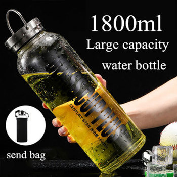 1.8L Large Capacity Portable Glass Water Bottles Leakproof Outdoor Sports Camping Picnic Bicycle Cycling Tour Drink Water Bottle