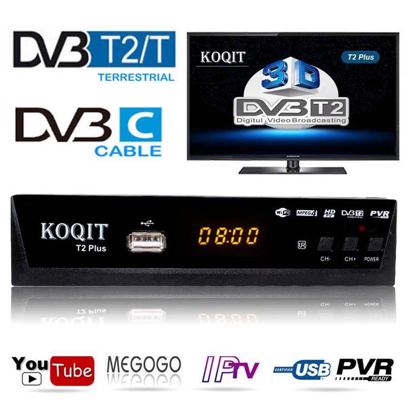 Russian Free Digital TV Box 1080P DVB-C Cable Receiver DVBT2 Tuner Dvb T2 Receiver Satellite TV Dvb-t2 Youtube IPTV Set Top Box