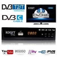 Russian Free Digital TV Box 1080P DVB-C Cable Receiver DVBT2 Tuner Dvb T2 Receiver Satellite TV Dvb-t2 Youtube IPTV Set Top Box