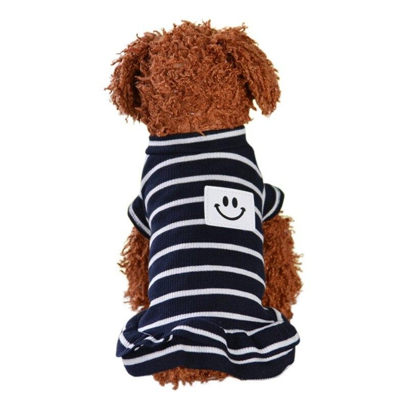 Весна лето Собака полосатый жилет юбка кошка Одежда Щенок Чихуахуа костюм для пуделя одежда для домашних животных жилеты для собак