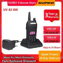 BaoFeng UV-82 Walkie-Talkie UV82 8W 10KM Range Two Way Radio VHF UHF Dual Band PTT Button Portable Ham Radio Hunting Transceiver