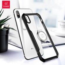 Xundd caso de luxo caso claro para o iphone xs max xr caso à prova de choque capa protetora completa para o iphone 7 7 plus 8plus xs x x хл л