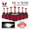 Zarkor H7 светодиодный 20000lm 4 стороны 360 ° 200 Вт H4 светодиодный H11 9005 9006 HB3 HB4 турбо светодиодный автомобильный светильник 12 В X6 H7 9004 автомобильная с...