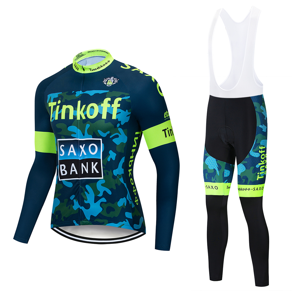 Tinkoff Breathable Cycling Clothes Set Northwave Long Sleeve Summer Jersey Men Suit Outdoor Sportful Bike MTB Clothing Paded