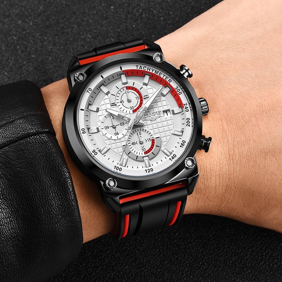 Haa75f281a72a4672b30f0a4fe11aa408M New Top Fashion Chronograph Quartz Men Watches LIGE Silicone Strap Date Wristwatch Clock Male Luminous Watch Relogio Masculino