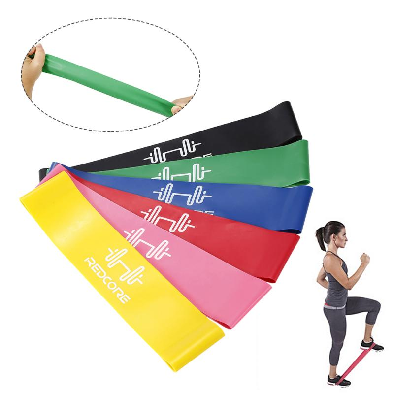 Fitness Exercise Resistance Bands 6 Colors For Sports Pilates Expander Fitness Gum Gym Workout Equipment Elastic Bands TXTB1