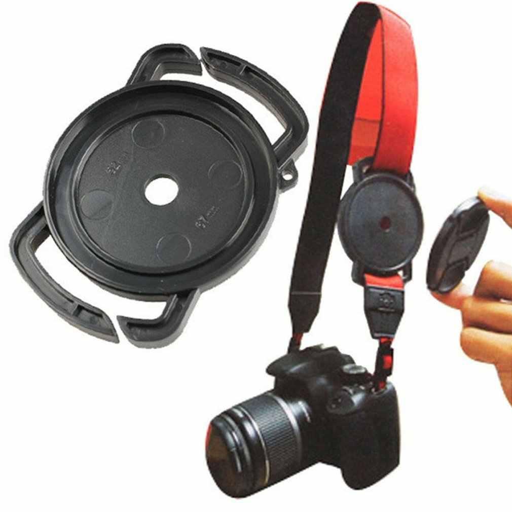 كاميرا إبزيم غطاء العدسة حارس قاعدة حامل 40.5 52 55 58 62 67 72 77 82 مللي متر لكانون Nikons سوني DSLR عدسة كاب حماية الرقبة حزام
