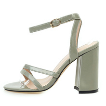 Gladiator Sandals Block Women's Shoes High-Heels Elegant White Party Female Red Large-Size