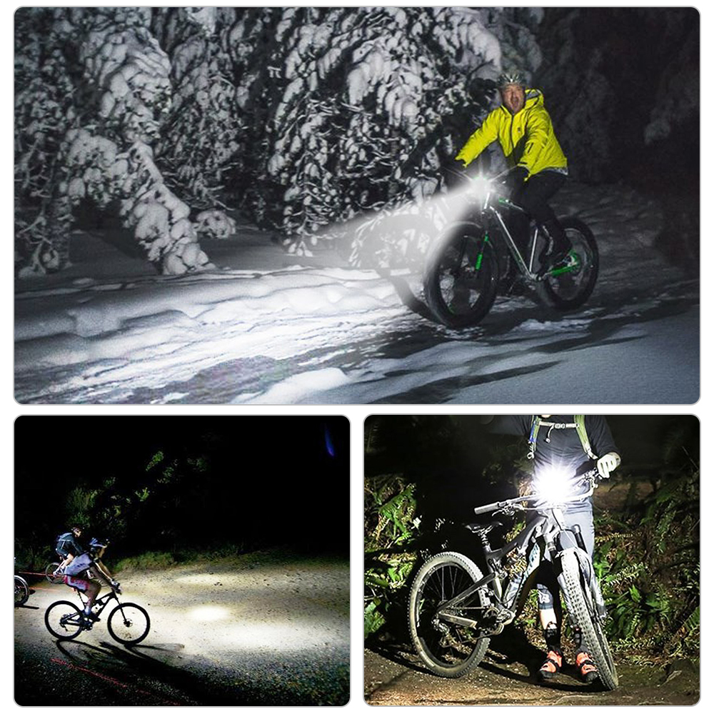Bike Headlight Front Light 1500mAh 4Modes USB Flashlight LED Bicycle Light Waterproof Headlight Rechargeable Bike Accessories in Bicycle Light from Sports Entertainment