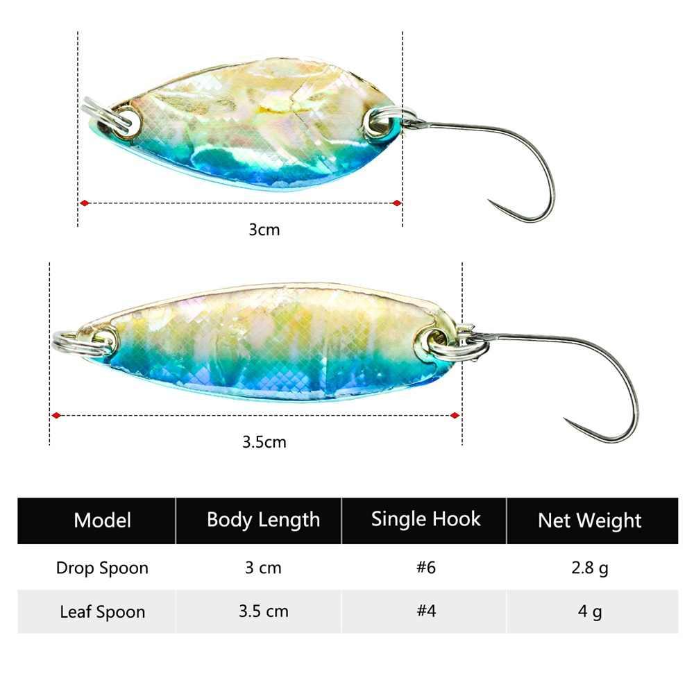 Goture Nieuwe Micro Vissen Lepel Lokken Spinner Harde Kunstaas Voor Forel Baars Vissen, 2 Stks/pak, 3 Cm 2.8G Of 3.5 Cm 4G
