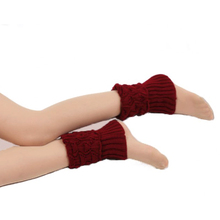 Socks Leg-Warmers Boot-Cover Winter Women Short Fashion Solid Knitted Autumn Casual