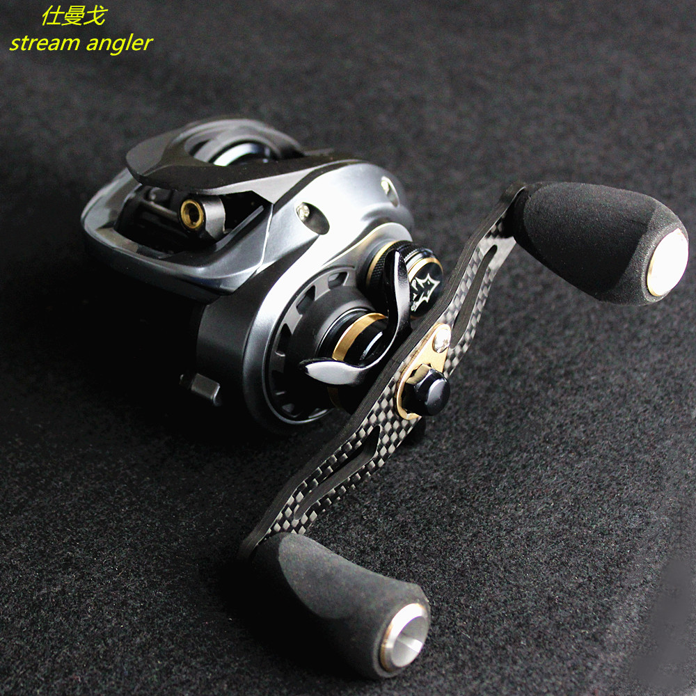 Lighter Carbon Baitcasting Wheel Hgh100 Pro Lure Water Drop Reel Good At Throwing Small Bait 7.5:1 Improved G H100 Max Upgrade