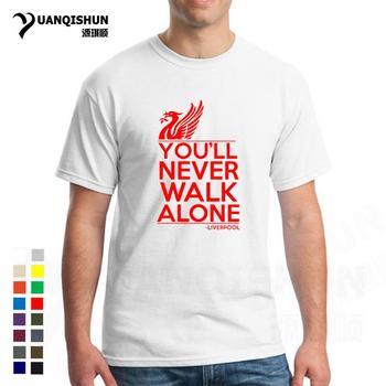Camiseta de alta calidad de 16 colores a la moda para hombre Camiseta Youll Never walking Alone Football Fan Club Ynwa Camiseta de algodón de regalo Streetwear