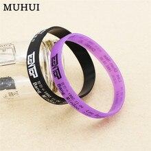 Rubber Wristband Sport-Bracelet Gift Best-Friend Kpop-Teentop-Logo Silicone Jewelry Women