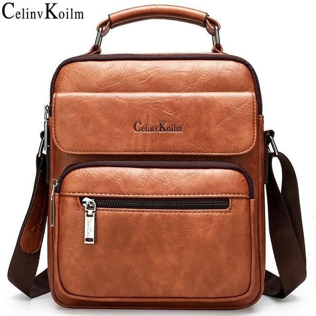 Celinv Koilm большой Размеры мужские сумки известного бренда мужские кожаные сумки через плечо сумка мессенджер для 9,7 дюймов iPad повседневное бизнес