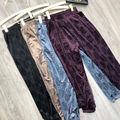 New Velour Leggings Casual Pants Large Size Slim Pants Elastic High Waist Straight Leg Pants