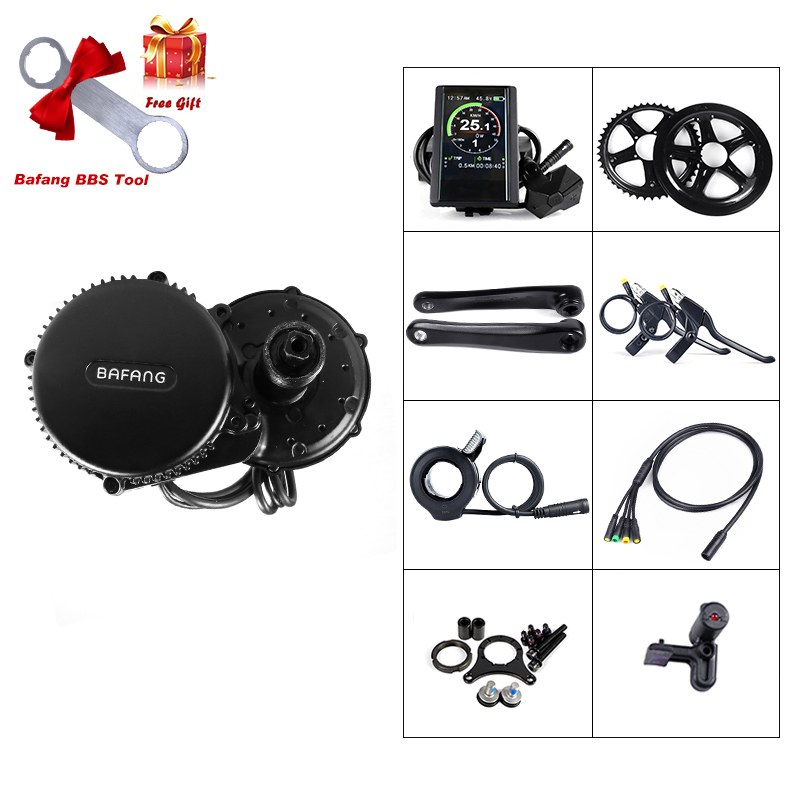 Discount Bafang BBS02B 36V 500W Mid Drive Motor Bike Electric Bicycle Conversion Kits 8fun BBS02 44T/46T/48T/52T Central Engine 0