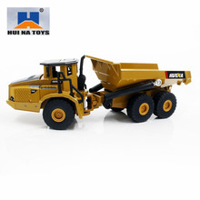 HUINA TOYS NO.1712/1710 1/50 Alloy Dump Trucks Car Die-Cast Metal Professional Engineering Construction Vehicle Model Kids Toy