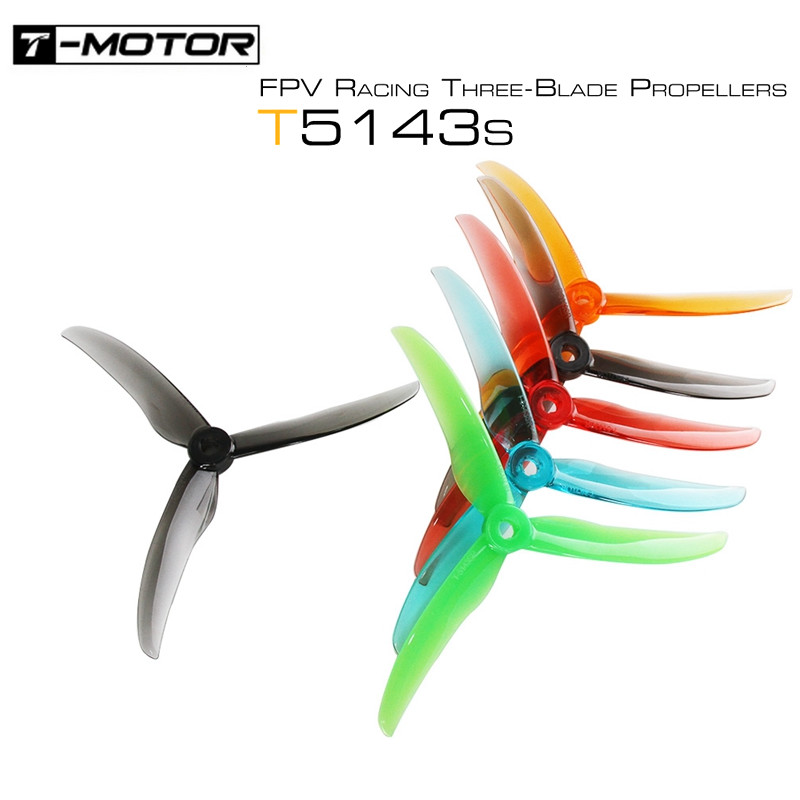 12 Pairs 24PCS  T-motor T5143S 5143 3-blade Propeller 5.1inch POPO Compatible Props 5mm Mounting Hole For RC Drone FPV Racing