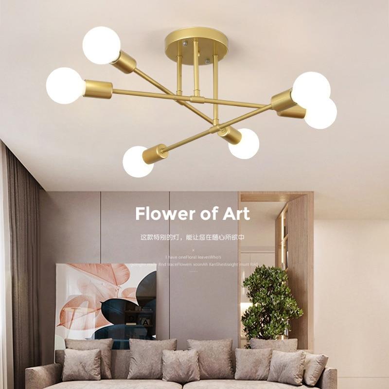 LED bedroom ceiling lamp, living room lamp, Japanese post-modern dining room lamp, household lamp, glass pendant lamp