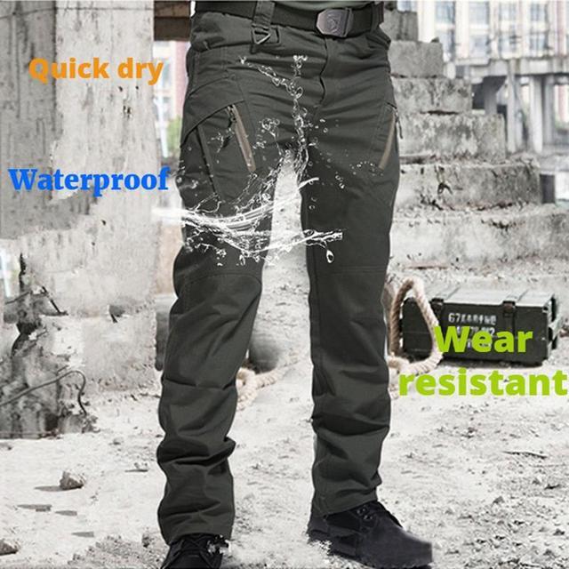 City Military Tactical Pants Men SWAT Combat Army Trousers Men Many Pockets Waterproof Winter Warm Fleece Casual Cargo Pants 4