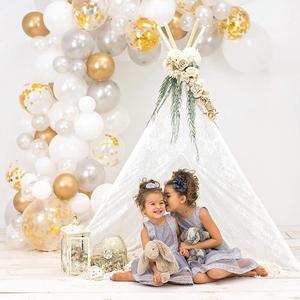 136 шт., 1 день рождения, свадебные шары, украшение для дня рождения, дети, мальчик, девочка, ребенок, душ, Балон, Круглый, из латекса, розовое зол...
