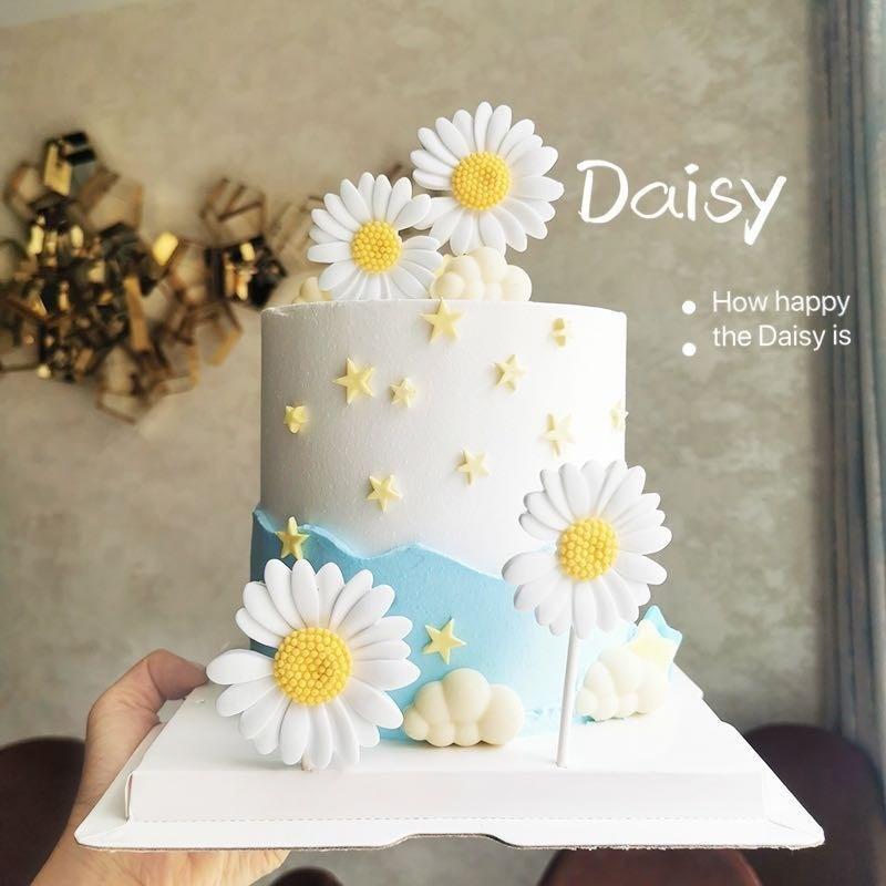 Remarkable Mega Deal 0583 Cake Decoration Resin Daisy Birthday Cake Funny Birthday Cards Online Elaedamsfinfo